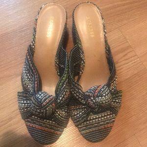 Express sandals heel 1 1/2 inch